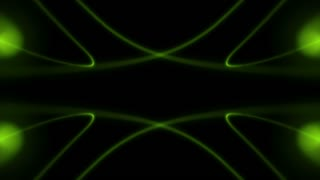 Abstract Bright Green Form Visualization 9