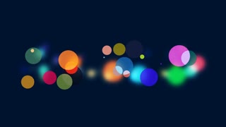 Abstract colourful bokeh slow motion 4K