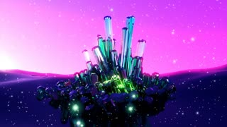 Abstract fantasy mystical glowing crystals