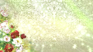 Abstract Flower Wedding Background