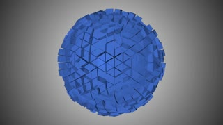 Abstract fractal sphere. Seamless loop