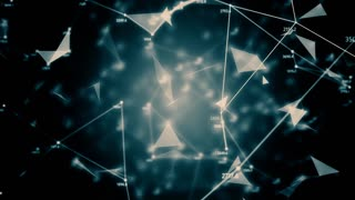 Abstract geometric composition from chaotic slow moving dots and lines 4K