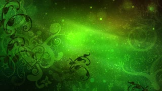 Abstract Green Flourish Background
