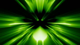 Abstract Green Rorschach Ink blot test with streaks