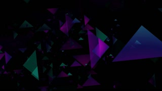 Abstract Multi Color Triangle Visual Background Loop