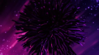 Abstract purple particles