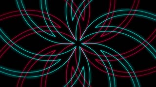 Abstract Radiating Outline Flower Pattern Background Loop