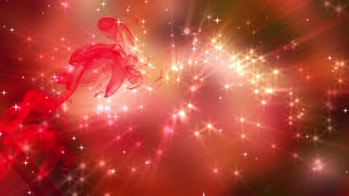Abstract Red Stars Shining Background 03