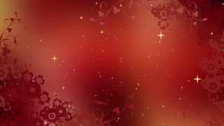 Abstract Red Stars Shining Background 04