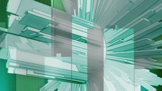 Abstract Turbine Green