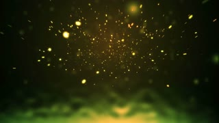 "Abstract Visualization of Yellow ""Fireflies"""