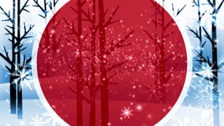 Abstract Winter Forest Background. Winter Snow. Red Christmas Motion