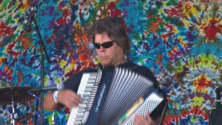 Accordianist Rocking Out