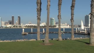 Across Harbor to San Diego City Skyline