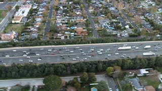 Across Highway Traffic Aerial