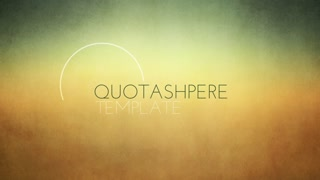 AE CS5 Template: Quotasphere