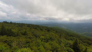 Aerial Appalachian Mountains Cloudy Day Flying Forward