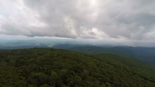Aerial Appalachian Mountains Storm Flying Backwards 2