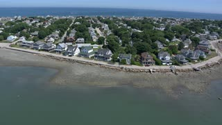 Aerial Boston Suburb Coast