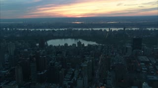 Aerial Central Park NYC View