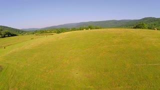 Aerial farm flyover summer 3