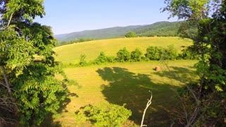 Aerial farm flyover summer 5