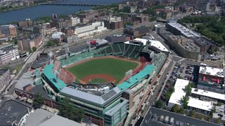 Aerial Fenway Park Infield