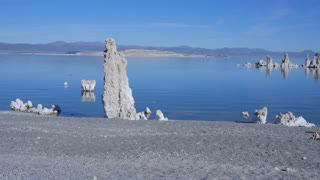 AERIAL: Flying around famous tufa formation in Mono Lake