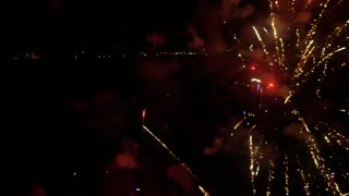 AERIAL: Flying inside big fireworks