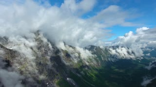 Aerial footage Beautiful Nature Norway.