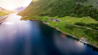 Aerial footage from Beautiful Nature Norway.