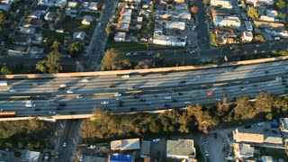 Aerial Freeway Fly By