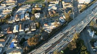 Aerial LA 101 Freeway