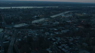 Aerial Manhattan Bridge Landscape at Dusk 4