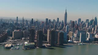 Aerial of Empire State Building and New York Skyline