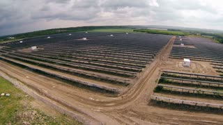 Aerial of Solar Farm - Green Energy