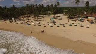 Aerial Of Tropical Beach And Tourism