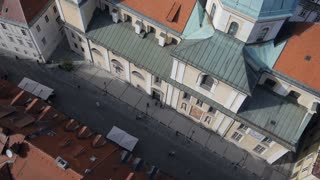 AERIAL: Old renaissance town