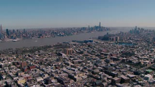 Aerial Over Hoboken Looking Toward New York City