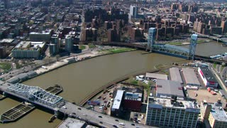 Aerial Over Jersey City Bridges 2