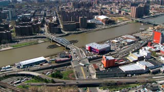 Aerial Over Jersey City Bridges