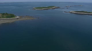 Aerial Panning Over Chain Islands, Boston Harbor