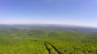 Aerial Shenandoah Valley Blue Ridge Mountains