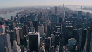 Aerial Shot Circling Manhattan