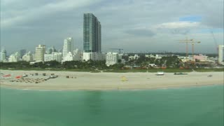 Aerial Shot of Beach in Miami 2
