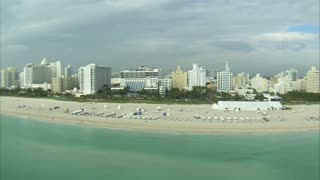 Aerial Shot of Beach in Miami 3