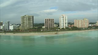 Aerial Shot of Beach in Miami
