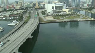 Aerial Shot of Boat Marina in Miami 2