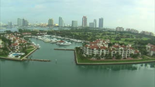 Aerial Shot of Boat Marina in Miami 4