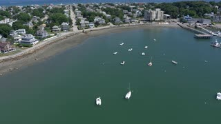 Aerial Shot Of Boston Area Marina 2